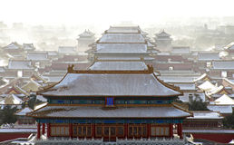 Heavy Snow Hits Beijing Stock Images