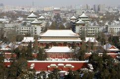 Heavy Snow Hits Beijing Stock Photos