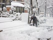 Heavy snow in Kiev, Ukraine, February 5, 2015 Royalty Free Stock Images