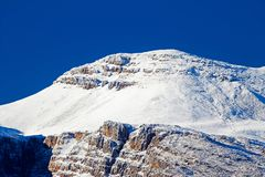 Heavy snow on mountain near Ceres, Western Cape Royalty Free Stock Image