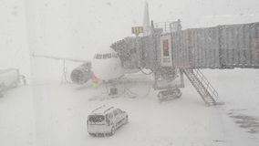 Heavy snow on Otp Airport bucharest. Heavy snow on otp stock images