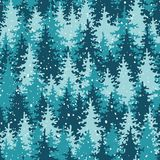 Heavy snow in the pine forest. Royalty Free Stock Photo