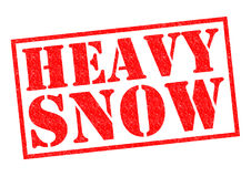 HEAVY SNOW Stock Photos