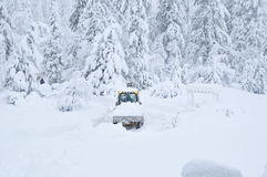 Heavy snow removal after storm Royalty Free Stock Photos
