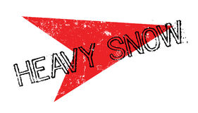Heavy Snow rubber stamp Royalty Free Stock Image