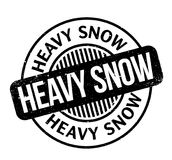 Heavy Snow rubber stamp Royalty Free Stock Photos