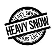 Heavy Snow rubber stamp Stock Images