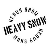 Heavy Snow rubber stamp Stock Image