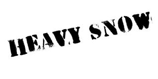 Heavy Snow rubber stamp Royalty Free Stock Photo