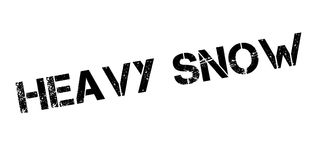 Heavy Snow rubber stamp Stock Photography