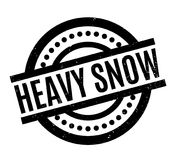 Heavy Snow rubber stamp Royalty Free Stock Images