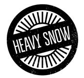 Heavy Snow rubber stamp Royalty Free Stock Photography