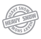Heavy Snow rubber stamp Stock Photo