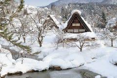 Heavy-Snow in Shirakawa-go Royalty Free Stock Photos