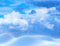 Heavy snowfall Royalty Free Stock Images