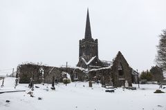 Heavy snowfall at Athenry Heritage Center Stock Photo