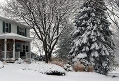 Heavy snowfall background. Stock Photo