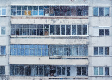 Heavy snowfall in city Royalty Free Stock Photography