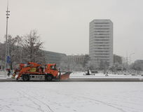 Heavy snowfall in Geneva Royalty Free Stock Image