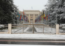 Heavy snowfall in Geneva Stock Photography