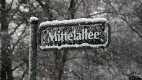 Heavy Snowfall Lake-Effect Snow stock video footage