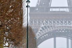 Heavy snowfall in Paris Stock Photography