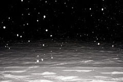 Heavy snowing. Winter night photo with heavy snowing stock image