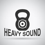 Heavy sound Royalty Free Stock Images