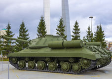 Heavy soviet tank Stock Images