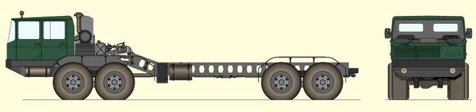 Heavy Soviet tank truck. Vector illustration of heavy Soviet tank truck Royalty Free Stock Photo