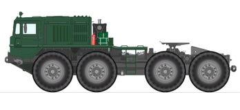 Heavy Soviet tank truck. Vector illustration of heavy Soviet tank truck Royalty Free Stock Photography