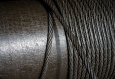 Heavy steel wire cable in industry Stock Photography