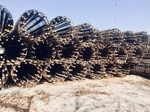 Heavy steels material for heavy construction of brigades,pillars,building,walls etc. Heavy steels raw material for heavy construction project in beautiful Royalty Free Stock Photography