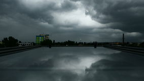Heavy storm above the city stock footage