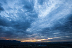 Heavy storm clouds Royalty Free Stock Photos