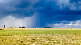 Heavy storm over a prairie Royalty Free Stock Image