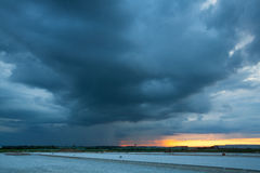 Before heavy storm at sunset Royalty Free Stock Photo
