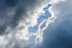 heavy strom clouds raining incoming Royalty Free Stock Photos