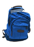 Heavy study load in backpack Royalty Free Stock Image