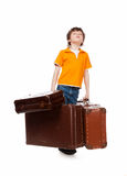Heavy suitcase Stock Images