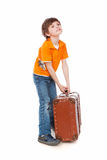 Heavy suitcase Stock Photography
