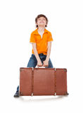 Heavy suitcase Royalty Free Stock Images