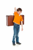 Heavy suitcase Stock Photo