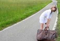 Heavy suitcase Royalty Free Stock Photo