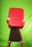 Heavy suitcase Royalty Free Stock Image
