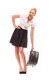 Heavy suitcase. Royalty Free Stock Photo