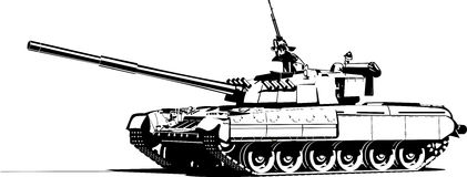 Heavy tank. Vector color illustration of modern heavy tank vector illustration