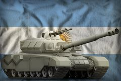 Heavy tank on the Argentina national flag background. 3d Illustration. Heavy tank on the Argentina flag background. 3d Illustration vector illustration