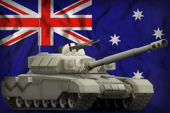 Heavy tank on the Australia flag background. 3d Illustration. Creative still vector illustration