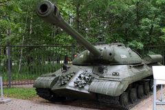 Heavy tank IS-3 model 1945 USSR on grounds of weaponry exhibit Royalty Free Stock Photography